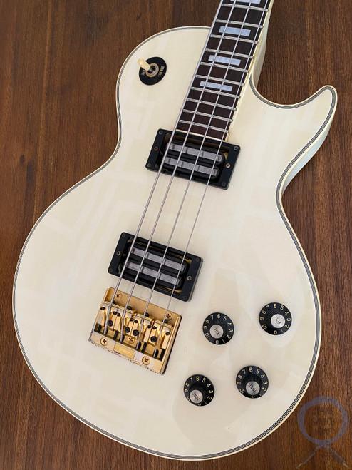 Greco Les Paul Bass, Aged Arctic White, MIJ, 1989, Short Scale