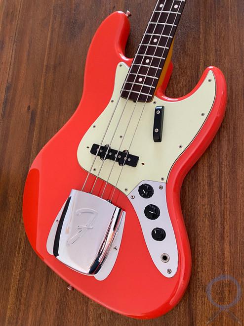 Fender Jazz Bass, '62, Fiesta Red, 1999, USA Pickups, Alder, Hard Case