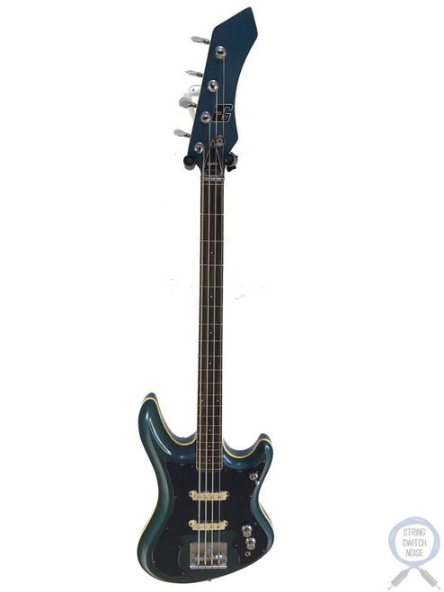 Guyatone, EB-9 Bass, Sharp 5, Blue Sparkle, MIJ, 1968, RARE!!!