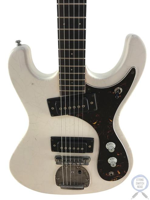 Guyatone, 1960's, Mosrite/Hi-Flyer style, Aged White, LG-127-T