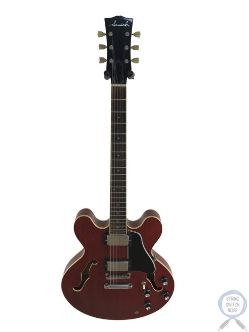 "Samick, ""335"" Semi Hollow, 1988, Cherry Red, Japanese Market"