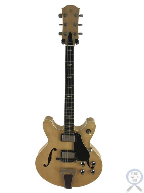 """Yamaha SA60, Natural, """"335"""" style, Semi Hollow Body, Vintage 1974, OHSC"""
