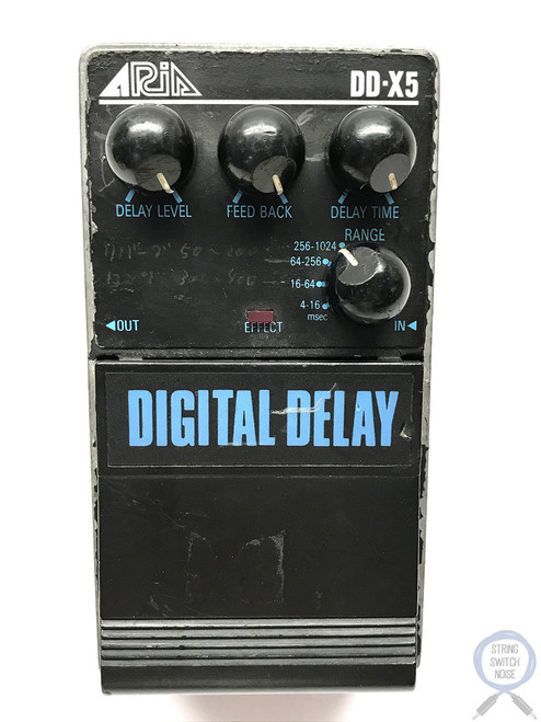 Aria DD-X5, Digital Delay, Pro II Series 5 1985-late 80's, Made In Japan Vintage