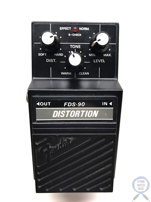 Fender FDS-90, Distortion, Guitar Effect Pedal, MIJ,(Maxon SD-01)1980's