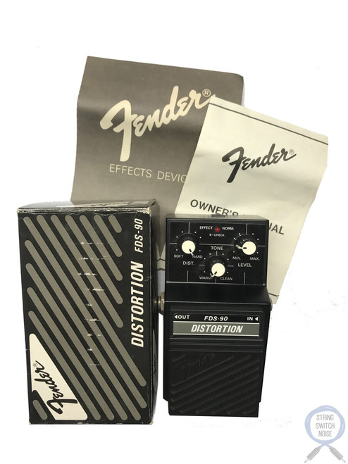Fender FDS-90, Distortion, Guitar Effect Pedal, MIJ,(Maxon SD-01)1980's, Original Boxing