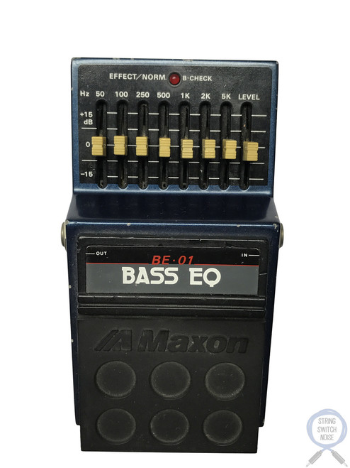 Maxon BE-01, Bass EQ, 8 Band, Made In Japan, 1980s, Vintage Guitar Effect Pedal
