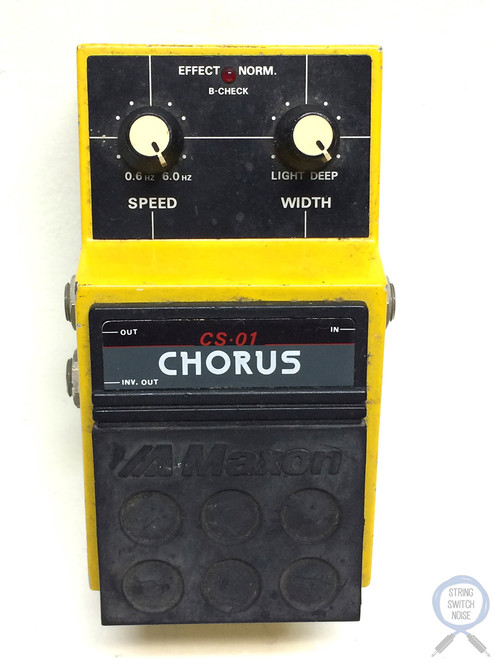 Maxon CS-01, Chorus, Made In Japan, 1980s, Vintage Guitar Effect Pedal (2)