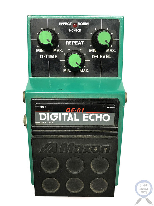 Maxon DE-01, Digital Echo, Made In Japan, 1980's, Vintage Guitar Effect Pedal