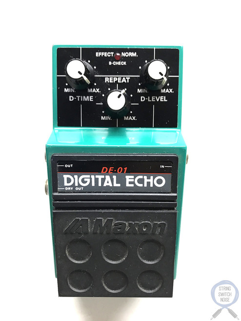 Maxon DE-01, Digital Echo, Made In Japan, 1980's, Vintage Guitar Effect Pedal (2)