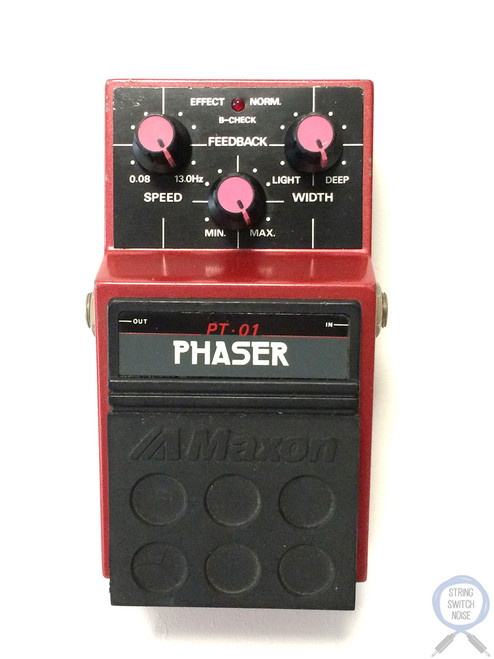 Maxon PT-01, Phaser, Made In Japan, 1980's, Guitar Effect Pedal (2)
