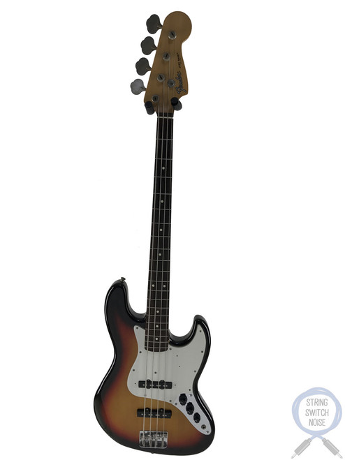 Fender Jazz Bass, 3 Tone Sunburst, White Guard, 1993