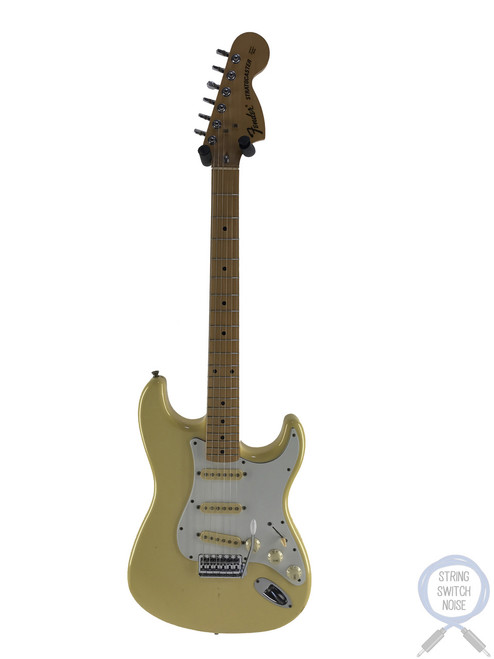 Fender Stratocaster, '72, Rare Yellow White Finish, 1990