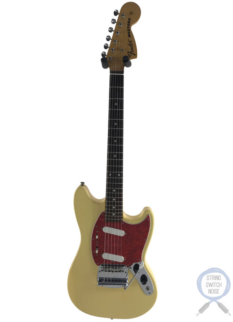 Fender Mustang, '69, Blonde (Yellow/White), 1993
