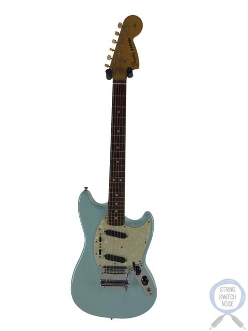 Fender Mustang, '65, Daphne Blue, 2005, Slab Body, Rare Colour