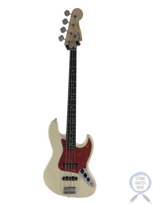 Fender Jazz Bass, Vintage White, Red Tort Guard, 2012, Near New Condition