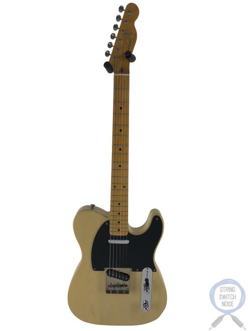 "Fender Telecaster, '52, Blonde, Black Guard, RARE ""V"" NECK, 1997"