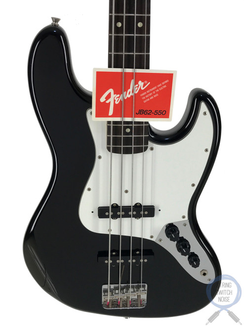 Fender Jazz Bass, '62, Black (Tuxedo), 1990, Excellent Condition