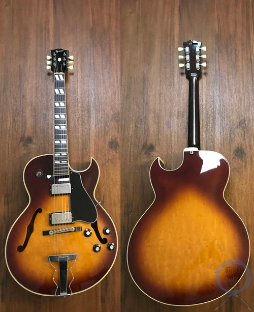 Greco, ES175, Super Real, Full Hollow Body, Sunburst, 1987, OHSC