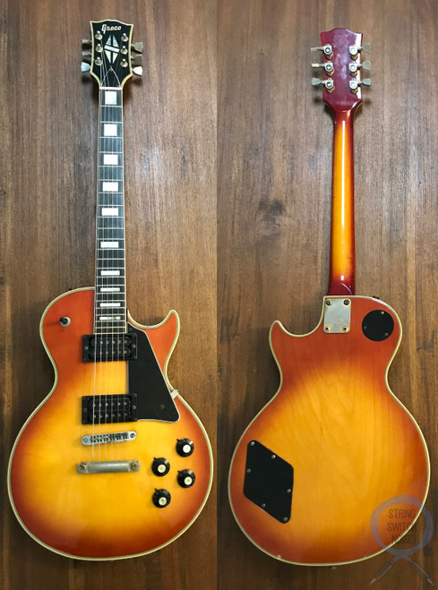 Greco Les Paul, Custom, Cherry Sunburst, 1974 Vintage, OHSC
