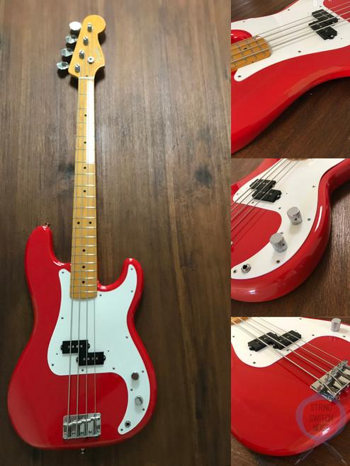 Fender Precision Bass, '57, Fiesta Red, 2006, USA Pickup, Hard Case