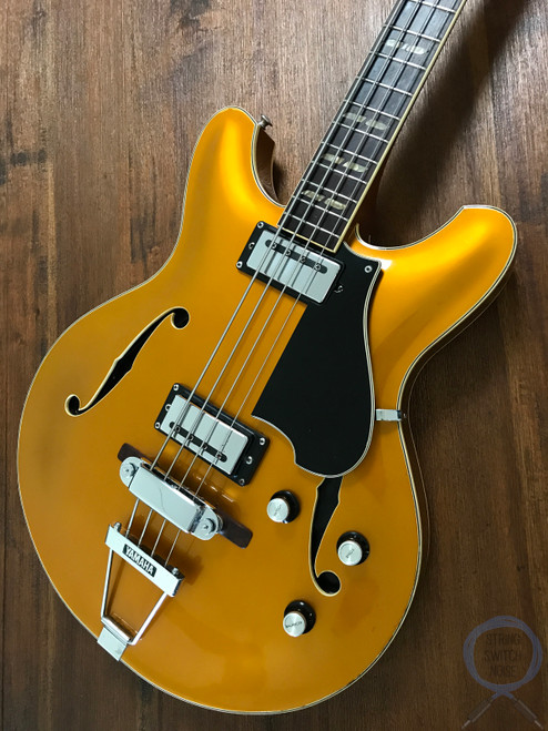Yamaha SA-70, Hollow Body Bass, RARE GOLD FINISH, 1973, OHSC