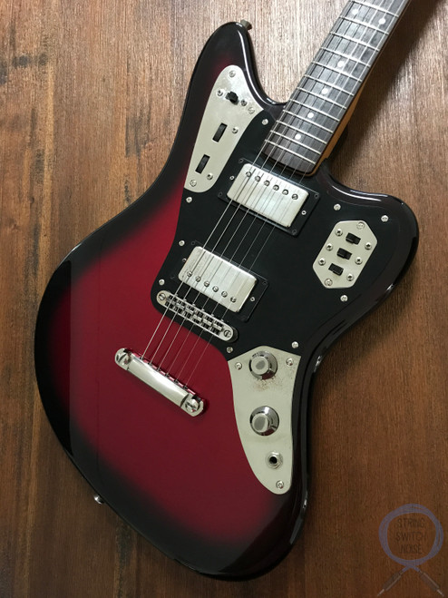 Fender Jaguar, HH, Gunmetal Red Burst, 2002, Rare to Find