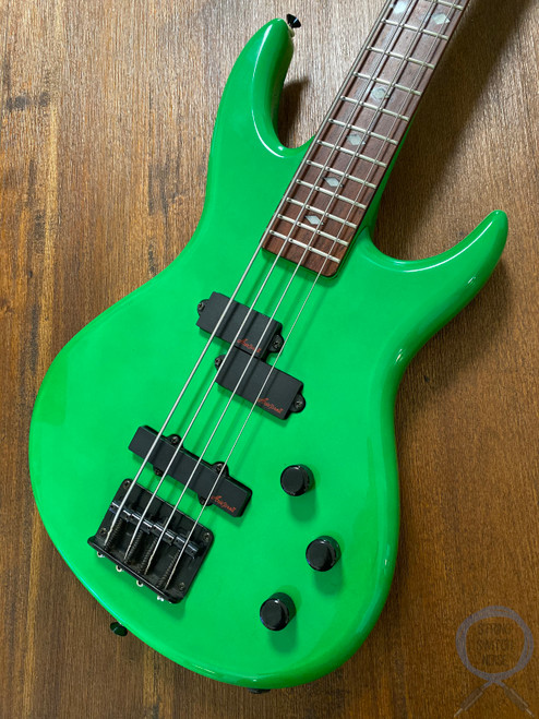 Aria Pro II Bass, Short Scale, Green, 1990s, Vanguard series