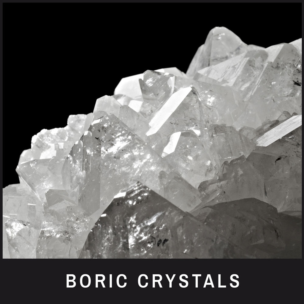 Boric Crystals - A natural cleaner and stain/odor remover; perfect for beard staining