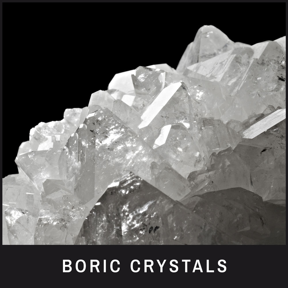 Boric Crystals – a natural cleaner and also stain/odor remover