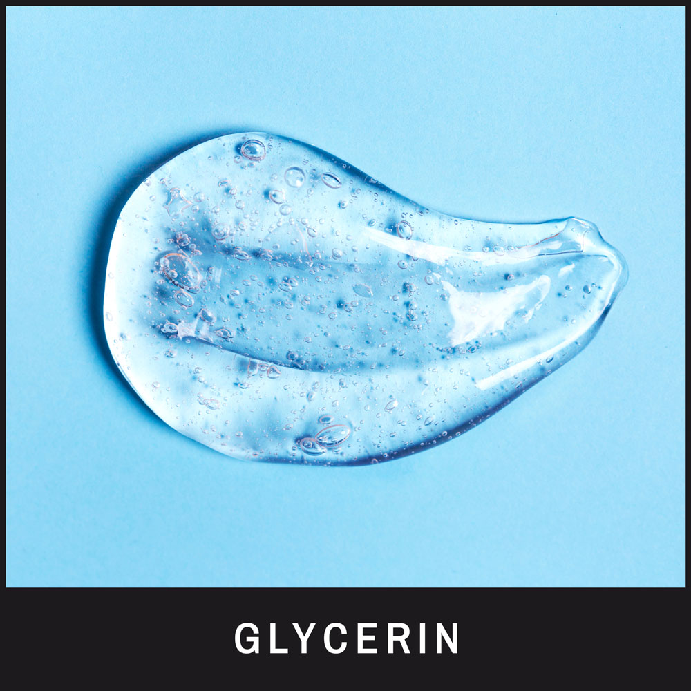 Glycerin is a powerful humectant, it retains and preserves moisture