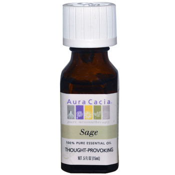 Aura Cacia Sage Oil, 15 ml