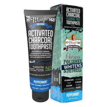 My Magic Mud Activated Charcoal Toothpaste, Peppermint, 113g