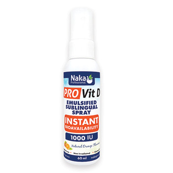 Naka Pro Vit D Sublingual Spray Orange Flavour, 60ml