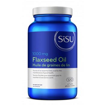 SISU Flaxseed Oil 1000mg, 120 soft gels