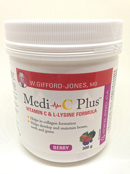 Medi-C Plus Vitamin C & L-Lysine 300g Berry