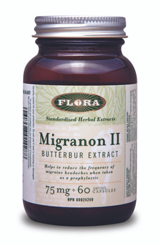 Flora Migranon ll Butterbur Extract 75mg, 60 Softgel Capsules