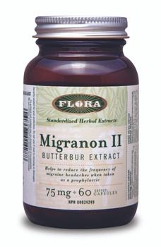 Flora Migranon ll Butterbur Extract 75mg, 60 Softgel Capsules