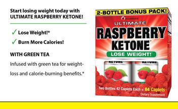 Ultimate Green Tea & Raspberry Ketone, 2-Bottle 42 Caps Bonus Pack
