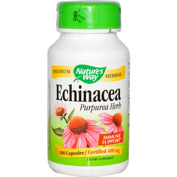 Nature's Way Echinacea Herb 400 mg, 100 Capsules