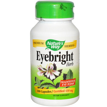 Nature's Way Eyebright Herb 430 mg, 100 Capsules