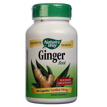 Nature's Way Ginger Root 550 mg, 100 Capsules