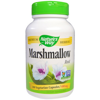 Nature's Way Marshmallow Root 480 mg, 100 Capsules