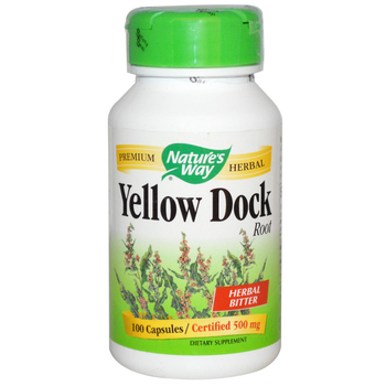 Nature's Way Yellow Dock 500 mg, 100 Capsules
