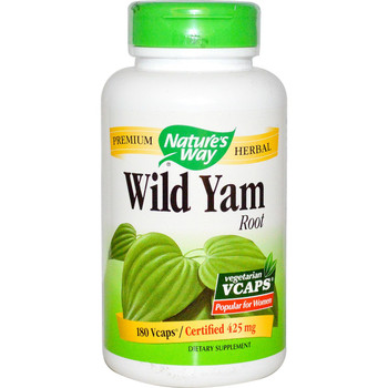 Nature's Way Wild Yam Root 425 mg, 100 Capsules