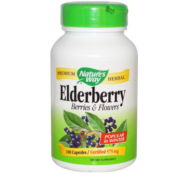 Nature's Way Elderberry 575 mg, 100 Capsules