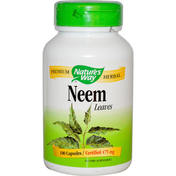 Nature's Way Neem Leaves 475 mg, 100 Capsules