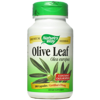 Nature's Way Olive Leaf 470 mg, 100 Capsules