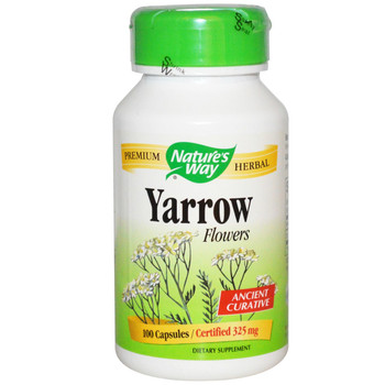 Nature's Way Yarrow Flowers 325 mg, 100 Capsules