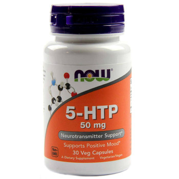 NOW 5-HTP 50 mg, 30 Capsules