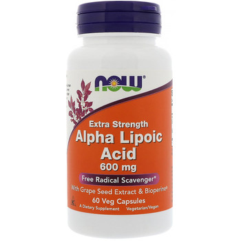 NOW Alpha Lipoic Acid 600 mg, 60 Capsules